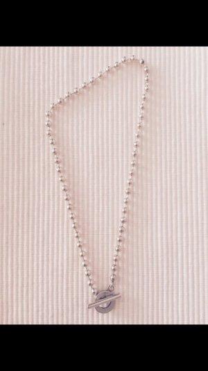 Gucci Halskette Perlen Silber