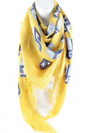 "Gucci Fazzoletto da collo ""GG Wallpaper Print Scarf Yellow"""