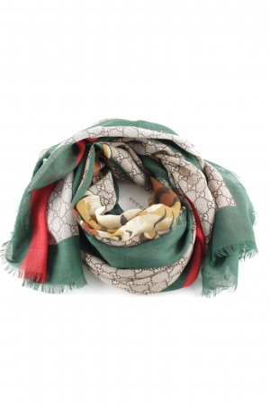 "Gucci Neckerchief ""Tiger Web Print Wool Stole Beige Ebony"""