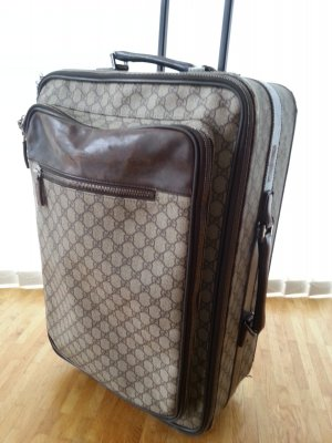 Gucci Valise Trolley multicolore cuir