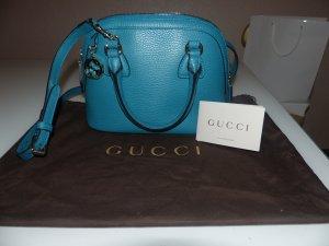 Gucci Sac porté épaule bleu cuir