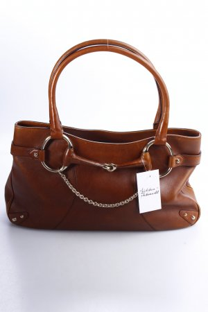 Gucci Handbag brown-gold-colored elegant leather