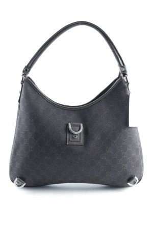 Gucci Handbag dark brown-silver-colored casual look