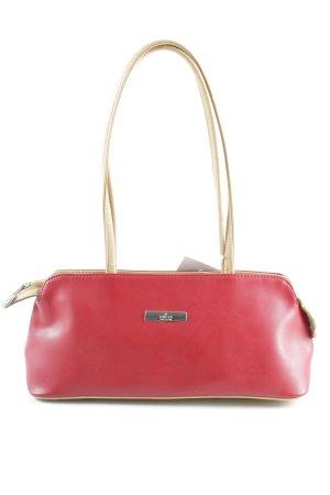 Gucci Borsetta rosso scuro-beige chiaro elegante