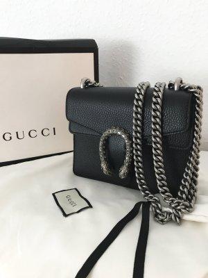 Gucci Borsa a tracolla nero-argento