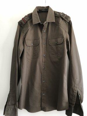 Gucci Camisa de manga larga marrón oscuro