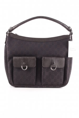 Gucci Carry Bag dark brown monogram pattern elegant