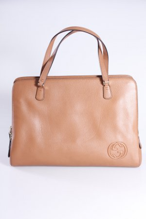 Gucci Henkeltasche Label Leather braun