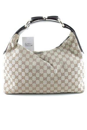Gucci Henkeltasche sandbraun-dunkelbraun Monogram-Muster Elegant