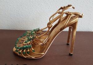 gucci high heel Sandalette mit perlen im boho artdeco stil