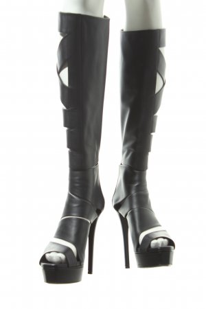 Gucci High Heel Stiefel schwarz Party-Look