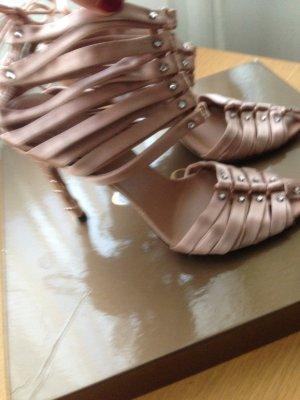 Gucci Hoge hakken sandalen stoffig roze