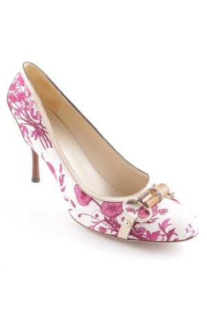 Gucci High Heels florales Muster Elegant