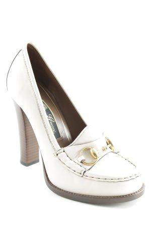 Gucci High Heels hellbeige-dunkelbraun Elegant