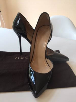 Gucci, High Heels, Lackleder, schwarz, Gr. 39,5