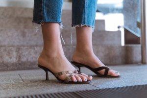 GUCCI High Heels Mules mit Guccissima Print
