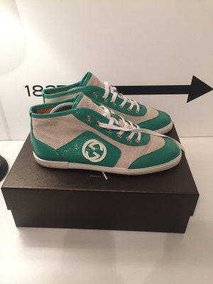 Gucci High Top Sneaker natural white-lime-green