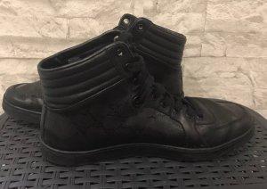 Gucci High Top Sneaker schwarz GG Monogramm Grösse 7