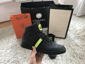 Gucci High Top Sneaker Turnschuhe Leder Logo Marmont