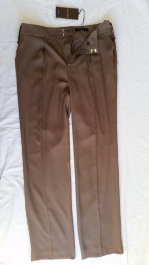 Gucci, High-Waist-Hose, Seide, braun-taupe, 38 (It. 42), neu, € 950,-