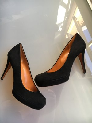 Gucci Highheels Wildleder schwarz Pumps