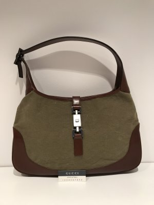 Gucci Hobo Bag Canvas Khaki