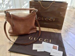 Gucci Hobo Handtasche Miss GG Leder braun neuwertig
