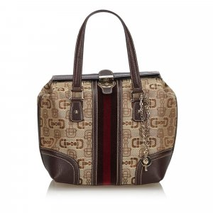 Gucci Horsebit Canvas Web Treasure Handbag