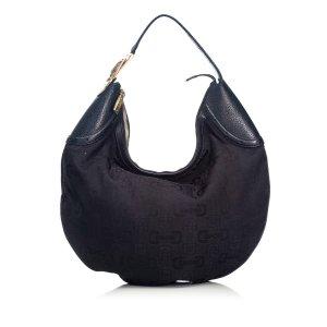 Gucci Horsebit Jacquard Glam Hobo Bag