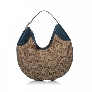 Gucci Horsebit Jacquard Hobo Bag