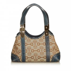 Gucci Horsebit Jacquard Shoulder Bag