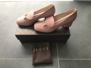 Gucci Horsebit Loafer Pumps, Rosa Grösse 37