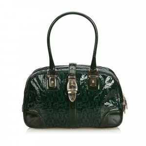 Gucci Horsebit Patent Leather Shoulder Bag