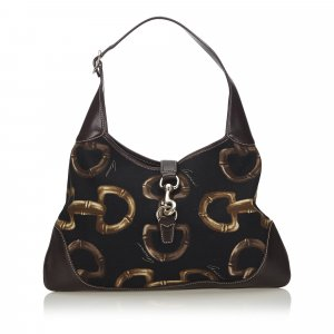 Gucci Horsebit Print Jackie Shoulder Bag