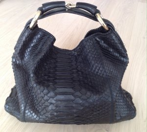 Gucci Horsebit schwarze Python Hobo Bag