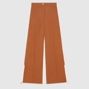 Gucci Flares cognac-coloured wool
