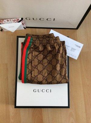 Gucci Pantalon à pinces doré-bronze