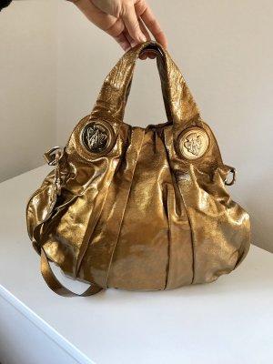 Gucci Shoulder Bag bronze-colored imitation leather