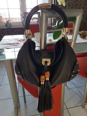 GUCCI Indy Bag Leder Bamboo Tasche schwarz, NP 1.900 €