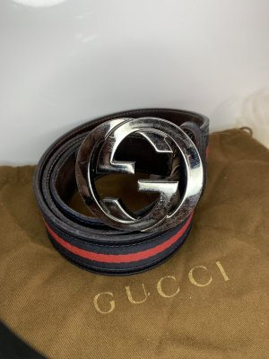 Gucci Interlocking Gürtel black leather