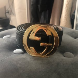 Gucci Interlocking Gürtel GG Leder Luxus Top