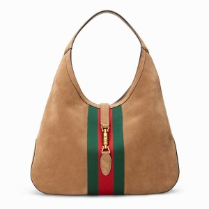 Gucci Sac hobo brun sable daim