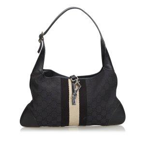 Gucci Jackie Jacquard Shoulder Bag