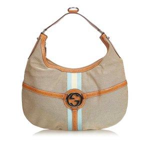 Gucci Jacquard Double G Hobo Bag