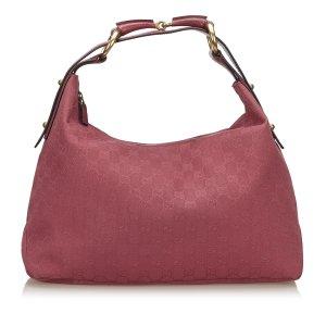 Gucci Jacquard GG Horse Bit Hobo Bag