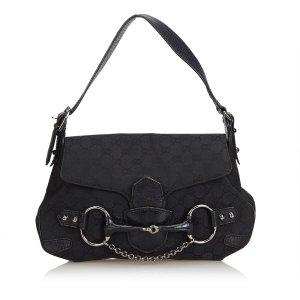 Gucci Jacquard Horsebit Handbag