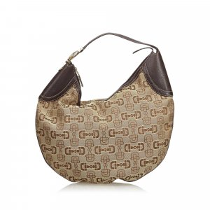 Gucci Jacquard Horsebit Hobo Bag