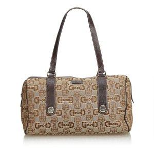 Gucci Jacquard Horsebit Print Handbag