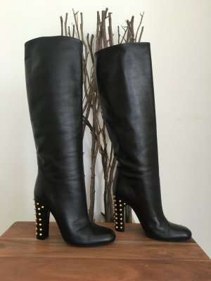 Gucci Jaquilyne Studded Mid Heels Tall Boot Gr. 37.5