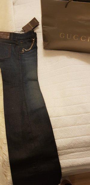 Gucci Jeans a zampa d'elefante blu